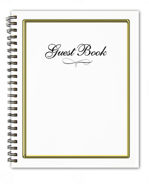 Embassy Spiral Wire Bind Memorial Guest Registry Book