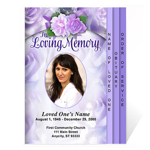 Rapture 8-Sided Graduated Funeral Program Template