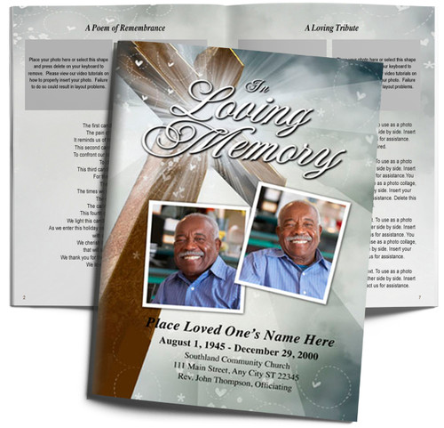 Eternal Large Tabloid Funeral Booklet Template