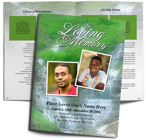 Majestic DIY Large Tabloid Funeral Booklet Template