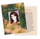 Flora Enlighten DIY Funeral Card Template