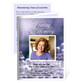 Lilac Small Folded Memorial Funeral Card Template