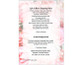 Precious Small Folded Funeral Card Template back
