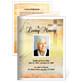 Savior Small Folded Memorial Funeral Card Template