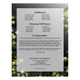 Serene Small Folded Funeral Card Template back
