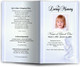 angela blue Funeral Program Template