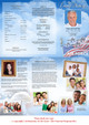 Air Force Large Tabloid Trifold Funeral Brochures Template inside view