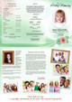 Blossom Large Tabloid Trifold Funeral Brochures Template inside view