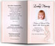 dreamstime peach Funeral Program Template