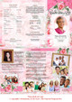 Precious Large Trifold Funeral Brochures Template inside view