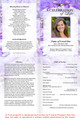 Amethyst A4 Program Funeral Order of Service Template inside view