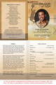 Basketball A4 Program Funeral Order of Service Template inside view