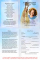 Blessed A4 Program Funeral Order of Service Template inside view