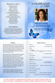 Butterfly A4 Program Funeral Order of Service Template inside view