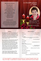 Candlelight A4 Program Funeral Order of Service Template inside view