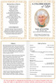 Caramel A4 Program Funeral Order of Service Template inside view