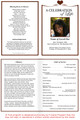 Cherish A4 Funeral Order of Service Template inside view