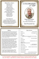 Creative A4 Funeral Order of Service Template inside view