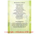 Daffodils A4 Funeral Order of Service Template back view