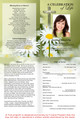Daisy A4 Funeral Order of Service Template inside view