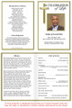 Embassy A4 Funeral Order of Service Template inside view
