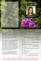Essence A4 Funeral Order of Service Template inside view
