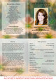 Floral A4 Funeral Order of Service Template inside view
