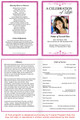 Fuschia A4 Funeral Order of Service Template inside view
