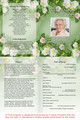 Garden A4 Funeral Order of Service Template inside view