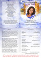 Pathway A4 Funeral Order of Service Template inside view
