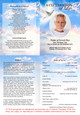 Peace A4 Funeral Order of Service Template inside view
