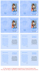 Blue Folded DIY Pet Memorial Card Template inside view