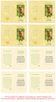 Gold Folded DIY Pet Memorial Card Template inside view