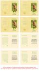 Gold Folded DIY Pet Memorial Card Template inside view