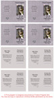 Gray Folded DIY Pet Memorial Card Template inside view