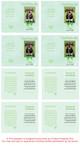 Green Folded DIY Pet Memorial Card Template inside view