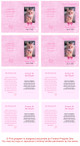 Pink Folded DIY Pet Memorial Card Template inside view