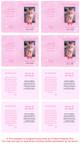 Pink Folded DIY Pet Memorial Card Template inside view