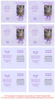 Purple Folded DIY Pet Memorial Card Template inside view