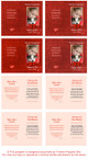 Red Folded DIY Pet Memorial Card Template inside view