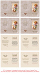Tan Folded DIY Pet Memorial Card Template inside view