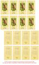 Gold Folded DIY Pet Memorial Card Templates inside view