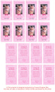 Pink DIY No Fold Pet Memorial Card Template inside view