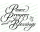 Peace Prayers Blessings Word Art Design