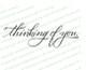 Thinking of You Condolences Word Art Design