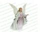 Faith Angel Vector Funeral Clipart light skin
