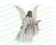 Faith Angel Vector Funeral Clipart dark skin