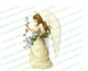 Florentine Angel Vector Funeral Clipart light skin