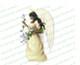 Florentine Angel Vector Funeral Clipart dark skin