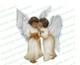 Joyous Angels Vector Funeral Clipart dark skin